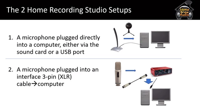 2 kinds of mics for a home recording studio